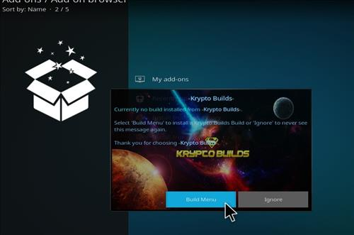How to Install Infinity Build Kodi 18 Leia step 16