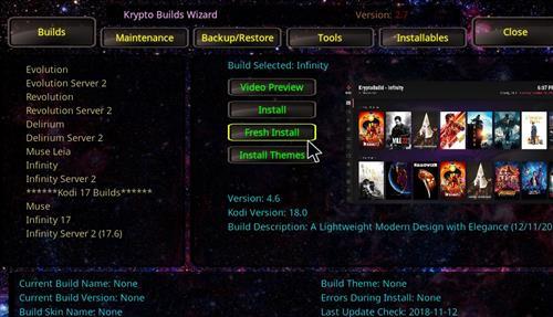 How to Install Infinity Build Kodi 18 Leia step 18