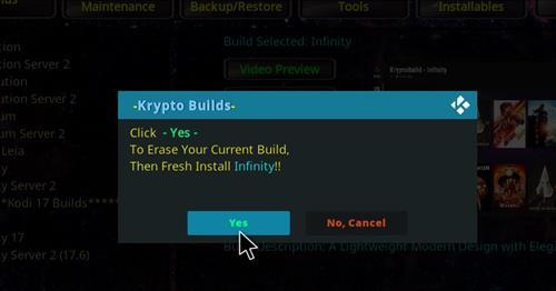 How to Install Infinity Build Kodi 18 Leia step 19