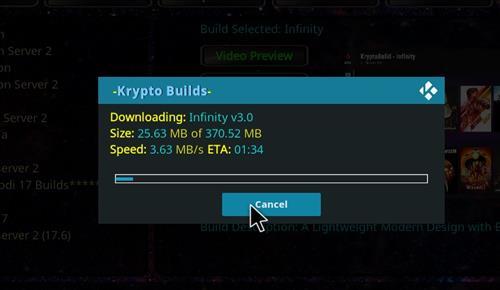 How to Install Infinity Build Kodi 18 Leia step 20