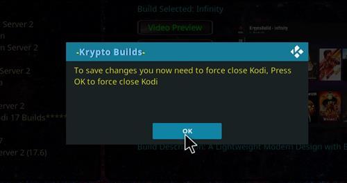 How to Install Infinity Build Kodi 18 Leia step 21