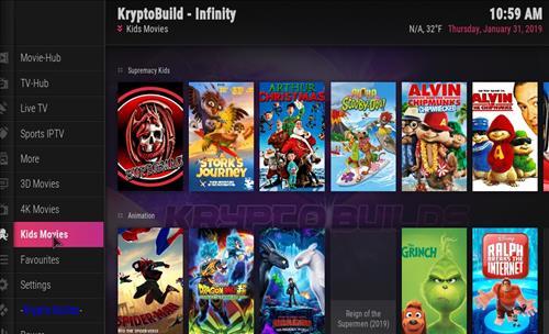 How to Install Infinity Build Kodi 18 Leia step 22