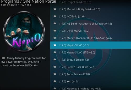 How to Install Klepto Silvo Kodi Build with Screenshots step 17