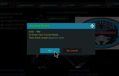 How to Install Maverick Kodi 18 Build Leia step 24