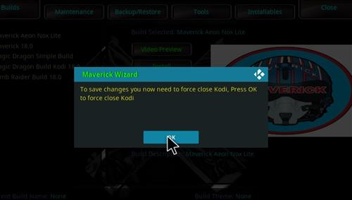 How to Install Maverick Kodi 18 Build Leia step 26