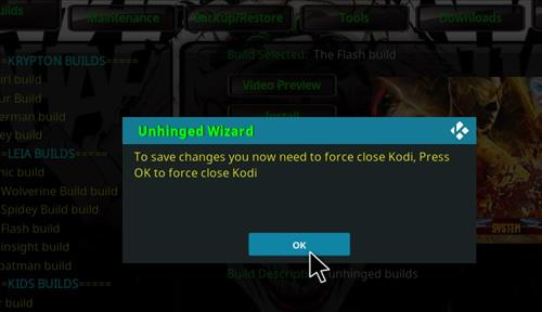 How to Install The Flash Kodi 18 Build Leia step 20