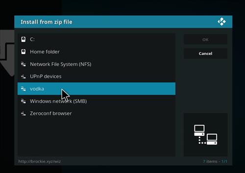 How to Install Vodka Kodi Build Blue Label with Screenshots step 11