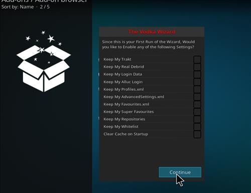 How to Install Vodka Kodi Build Blue Label with Screenshots step 14