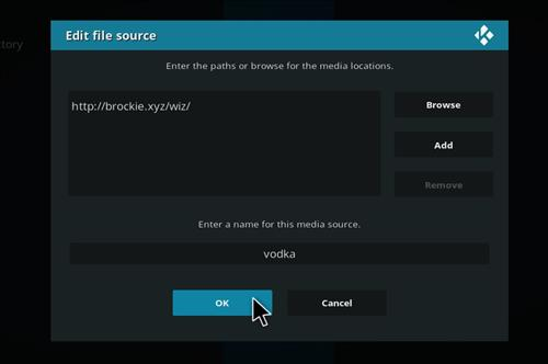 How to Install Vodka Kodi Build Blue Label with Screenshots step 7