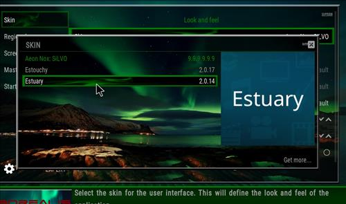 How to change the Skin back to Default Estuary Borealis step 4