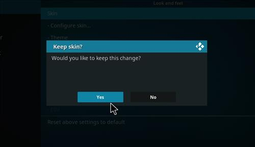 How to change the Skin back to Default Estuary Borealis step 5