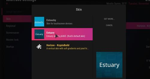 How to change the Skin back to Default Estuary infinity step 4