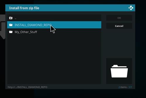 How to Install Diamond Kodi Build 18 Leia step 12