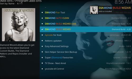 How to Install Diamond Kodi Build 18 Leia step 20