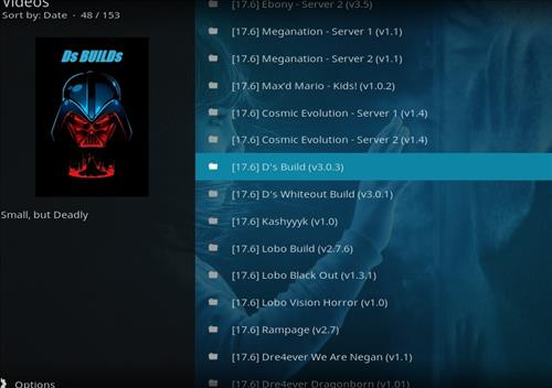 How to Install D's Kodi Build with Screenshots step 17