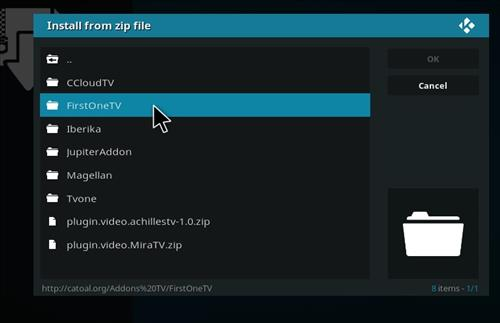 How to Install Firstonetv Kodi Add-on with Screenshots step 13