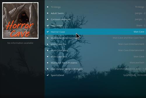 How to Install Horror Cave Kodi Add-on with Screenshots step 17