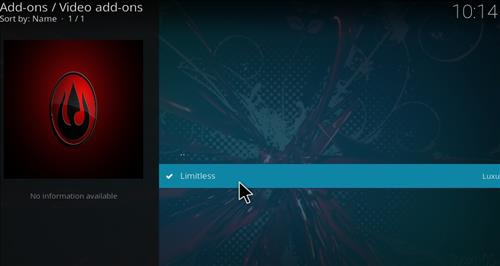 How to Install Limitless Kodi Add-on with Screenshots step 17