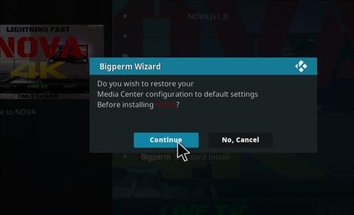 How to Install Nova 4K Kodi Build with Screenshots step 18