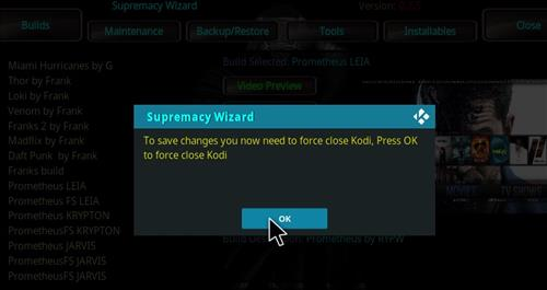 How to Install Prometheus Kodi Build 18 Leia step 27