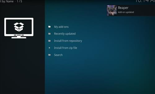 How to Install Reaper Kodi Add-on with Screenshots step 13