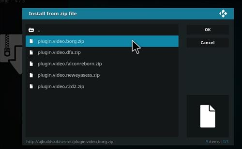 How to Install Borg Kodi Add-on with Screenshots step 12