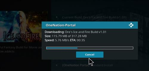 How to Install Dre's Ice and Fire Kodi Build with Screenshots step 19