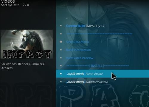 How to Install Impact Kodi Build with Screenshots step 18