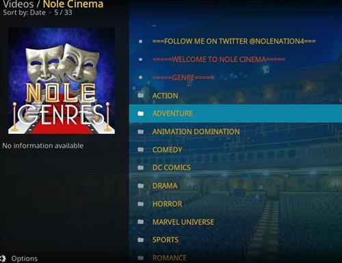How to Install Nole Cinema Kodi Add-on with Screenshots pic 2
