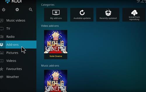 How to Install Nole Cinema Kodi Add-on with Screenshots step 8