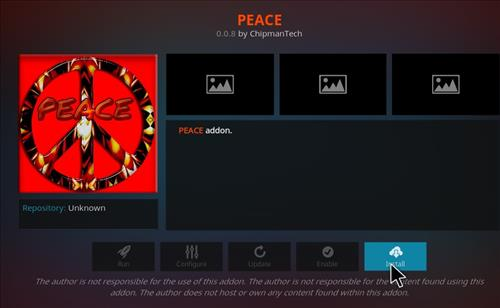 How to Install Peace Kodi Add-on with Screenshots step 18