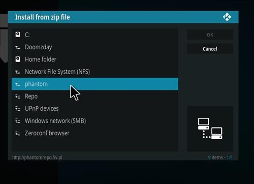 How to Install Phantom Kodi Add-on with Screenshots step 11