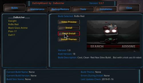 How to Install Robo Red Kodi 18 Leia Build step 23