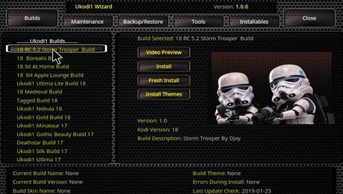 How to Install Storm Trooper Kodi 18 Build Leia step 24