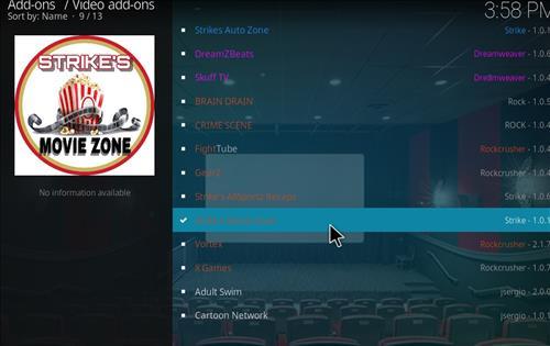 How to Install Strikes Movie Zone Kodi Add-on with Screenshots step 17