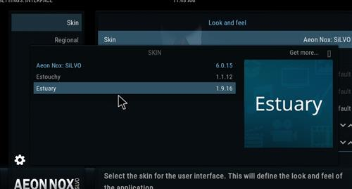 How to change the Skin back to Default Estuary shdows step 4