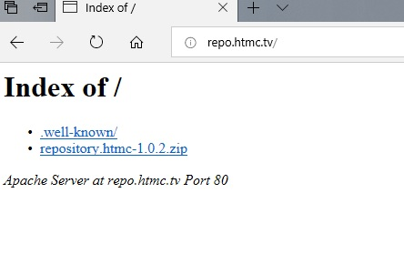 manual and download htmc repo step 1