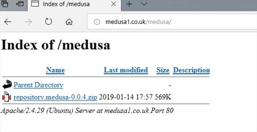manual and download medusa repo step 1