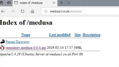 manual and download medusa repo step 2