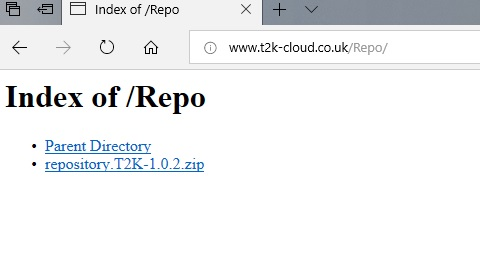 manual and download t2k repo step 1