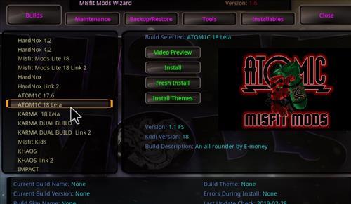 How to Install Atomic 18 Kodi Build Leia step 17