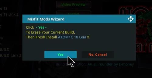 How to Install Atomic 18 Kodi Build Leia step 19