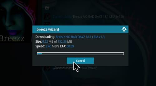How to Install Breez No Bad Dayz Kodi 18 Leia Build step 25