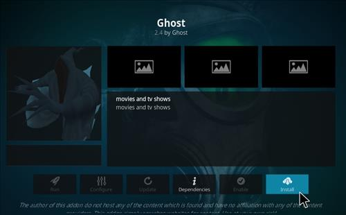 How to Install Ghost Add-on for Kodi 18 Leia step 18