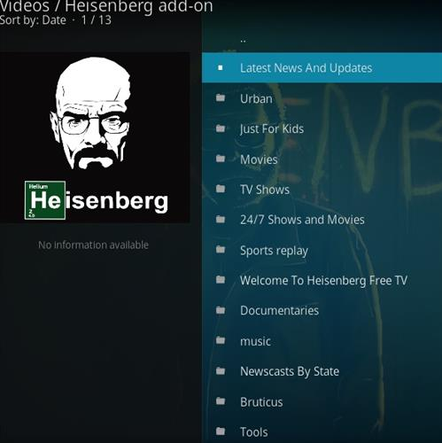How to Install Heisenberg Kodi 18 Leia Add-on pic 2