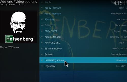 How to Install Heisenberg Kodi 18 Leia Add-on step 18