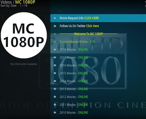 How to Install MC 1080P Kodi18 Leia Add-on pic 2