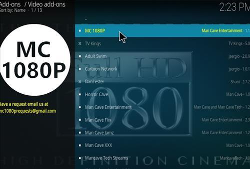 How to Install MC 1080P Kodi18 Leia Add-on step 18