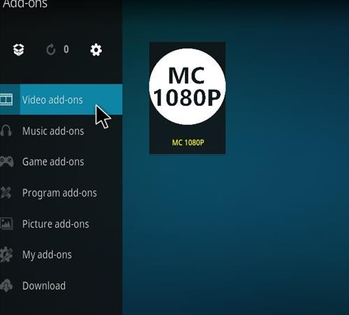 How to Install MC 1080P Kodi18 Leia Add-on step 22