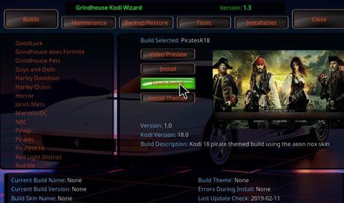 How to Install PiratesK18 Kodi Leia Build step 24